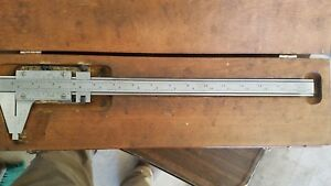 Starrett No 123 12 Precision Vernier Calipers 001 W Case