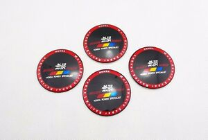 4pcs Car Wheel Center Hub Caps Stickers Emblems Curved For Mugen Power 6508