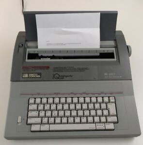 Smith Corona Sl 580 Electric Typewriter Gray Dictionary Correcting Quiet System
