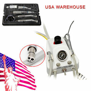 Dental Portable Turbine Work W air Compressor High Slow Speed Handpiece Kit 4h