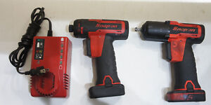 Snap on 3 8 Impact Wrench Ct761ao Cordless Screwdriver Cts761a 2 Batt charger