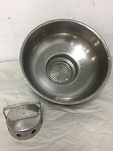 Stainless Steel Pour Thru Milk Strainer Uses 6 5 Filter Disks Schwartz Kenag