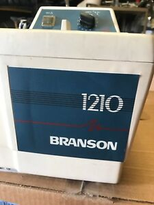 Bransonic Branson 1210r mth Ultrasonic Cleaner W Heated Water Bath Chamber