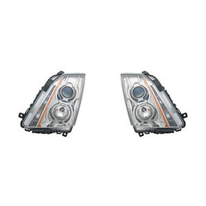 Fits 2008 2014 Cadillac Cts Pair Head Lights Driver And Rh Nsf Halogen