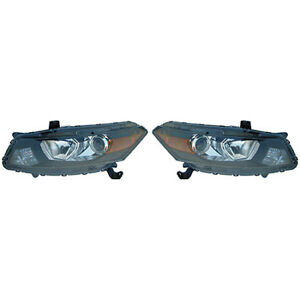 Fits 2008 2010 Honda Accord Pair Head Lights Driver And Rh Bulbs Incl Coupe