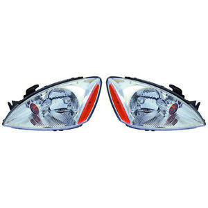 Fits 2004 2007 Mitsubishi Lancer Pair Head Lights Driver And Rh Bulbs Incl
