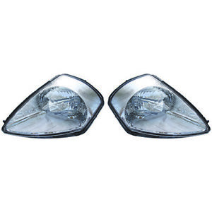 Fits 2002 2005 Mitsubishi Eclipse Pair Head Lights Driver And Rh Bulbs Incl