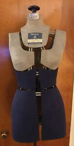 Vintage Fairloom Fully Adjustable Dress Form mannequin iron Stand size A sewing