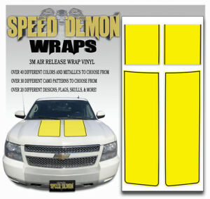 Chevy Truck Racing Stripes Avalanche Hood Tailgate Rally Yellow Decals 2007 13