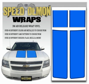 Chevy Truck Racing Stripes Avalanche Hood Tailgate Blue Rally Decals 2007 2013