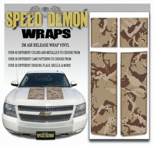 Avalanche Truck Racing Stripes Hood Tailgate Rally Decals Desert Camo 2007 2013