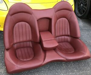 Vintage Car Bucket Seats Hot Rod Classic Front Leather Burgundy