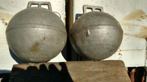 Antique Vintage 8 Diameter Aluminum Philips Fishing Trawl Line Float