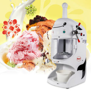 Commercial Ice Shaver Machine Electric Snow Cone Maker Crusher Shaving 110v
