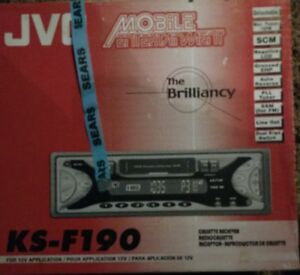 Vintage Jvc Car Stereo Cassette Player Am fm Receiver Ks f190 180w New In Box