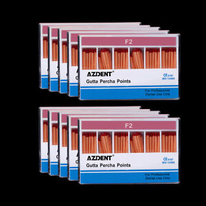 Dental 20box Gutta Percha Points F2 Root canal Obturating Points Azdent New