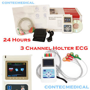 Dynamic Ecg System Tlc9803 Contec 3 Channel Holter Ecg Machine 24hours Recorder