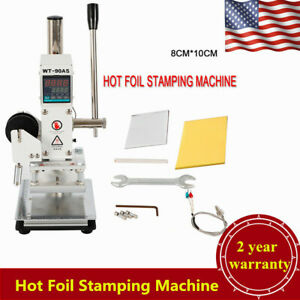 8 10cm Manual Digital Hot Foil Stamping Machine Leather Logo Stamp Bronzing Usa