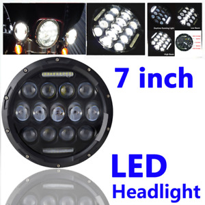 7 Round Motorcycle Hid Led Headlight Lighting Projector Reflector 78w