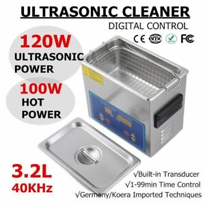 New 3 2l Ultrasonic Cleaner Stainless Steel Industry Heated Heater W timer Vp