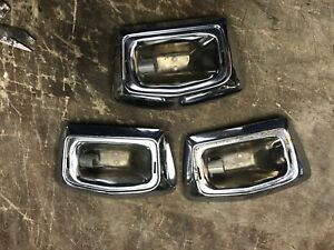 1956 Chrysler Imperial Dome Light Chrome Trim Piece Lot Of 3