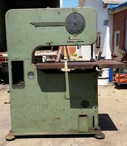 Vintage Doall Metalmaster Industrial Verticle Band Saw 208 Volt 3 Phase