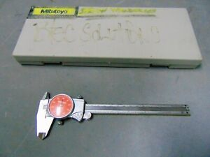 Mitutoyo Model 505 675 54 6 Dial Caliper Shock Proof orange Face 001