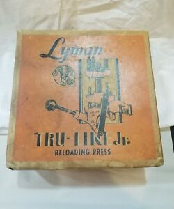 Vintage Lyman Tru-Line Jr Reloading Press 30-06 w Priming Stem Dies