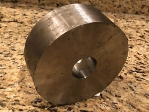 316l Stainless Steel Round Bar Stock 6 1 2 Od By 2 3 8 Long With A 1 3 4 Hole