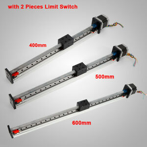 Cnc Linear Rail Guide Slide Stage Actuator Ball Screw Motion Table limit Switch
