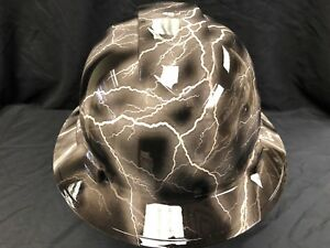 New Full Brim Hard Hat Custom Hydro Dipped Textile Carbon Fiber Free Shipping