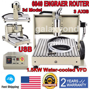 1 5kw 3 Axis 6040 Cnc Router Engraver Usb Engraving Milling Drilling Machine Cut