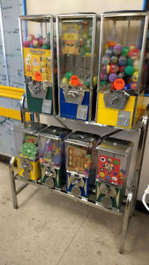 Vending Rack 7 Heads Gumballs Capsules Balls Coin Op Redemption Arcade Game