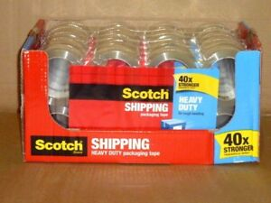 Case Of 48 Roll Scotch Heavy Duty Packing Tape 415022 1 88 X 54 36yd Each New