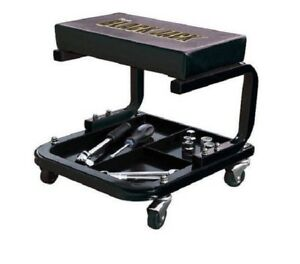 Creeper Seat Stool Tool Tray Storage Garage Shop Auto Mechanics Steel Swivel Cas