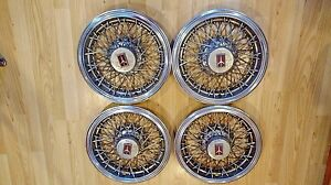 Mid 70 S Early 80 S Vintage Oldsmobile 14 Wire Wheel Covers