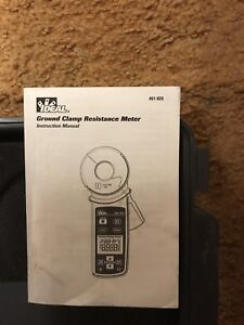 Ideal 61 920 Ground Resistance Clamp Tester Meter