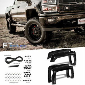 smooth 2014 2018 Chevy Silverado 1500 5 5ft Bed Pocket Riveted Fender Flares