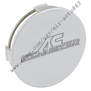 Ac Schnitzer Silver Wheel Center Cap Round 75mm For Type Ii Type Iii Oem 1pc