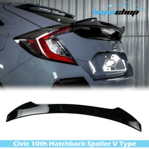 Painted nh731p Honda Civic 10th Hatchback 2016 2019 V Look Trunk Spoiler Ex l