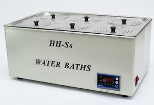 1500w Digital Thermostatic Water Bath 6 Hole 500 300 150mm Hh s6 Fast Shipping T