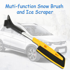 Extendable Ice Scraper W Brush For Car Windshield Snow Remove Frost Ice Cleaner