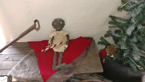 Primitive Stuffed Doll Christmas Candy Cane Stick