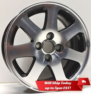 New Set4 15 Alloy Wheels And Centers For 1988 2005 Honda Civic Machined Black