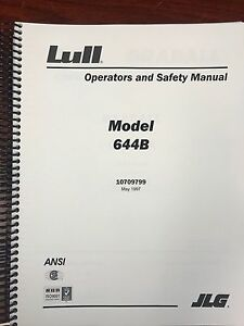 Jlg Lull Operators And Safety Manual Model 644b Boom Book