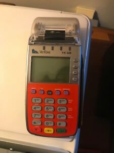 Verifone Vx520 Emv Credit Card Machine Red slightly Used lot Of 2 free Shipping