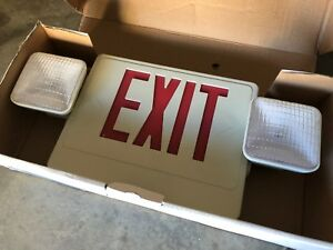 New Howard Combo Hl02143rw Exit Light led red Emergency Lighting Unit