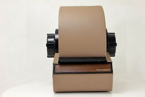 Vintage Rolodex Metal Tan gray Model 5350 Rotary Card File