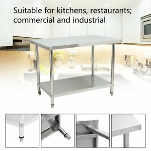 48 X 37 Stainless Steel Kitchen Work Table Commercial Restaurant Table Us Dg