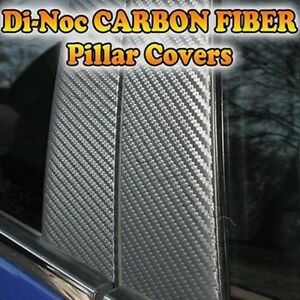 Carbon Fiber Di noc Pillar Posts For Chevy Aveo 4dr 07 11 6pc Set Door Trim